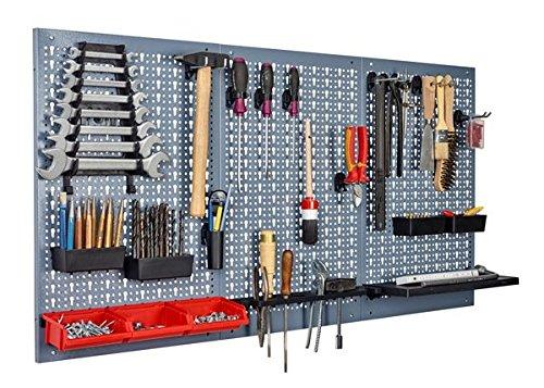 Garagenwand Werkzeugwand mit Werkzeughalter Lochwände Wandplatte