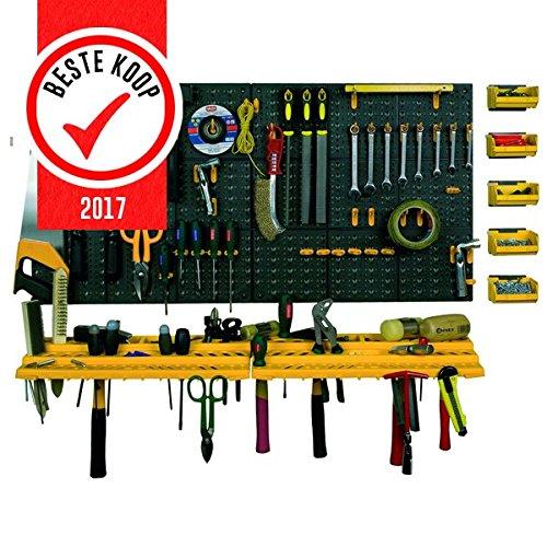 ArtPlast Werkzeug-Lochwand mit Haken + Konsolen + Sichtboxen - 2