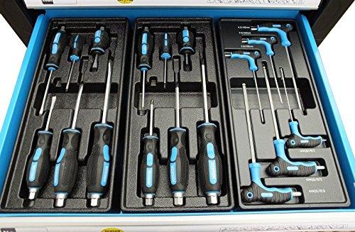 Bensontools Werkstattwagen Blue Edition bestückt mit Werkzeugen - 6