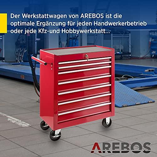 Arebos Werkstattwagen 7 Fächer - 6