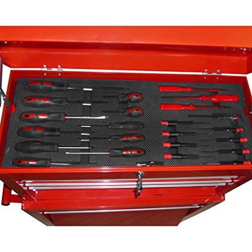 vidaXL Werkstattwagen gefüllt mit über 250 Werkzeuge - 4