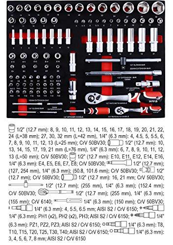 Yato Werkstattwagen mit 211-tlg Werkzeugset - 9