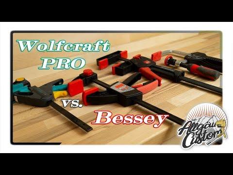 Wolfcraft Pro vs. Bessey der Einhandzwingen Vergleich