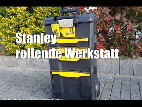 Stanley rollende Werkstatt mit drei Werkzeugkoffern - Autopflege Aufbewahrung
