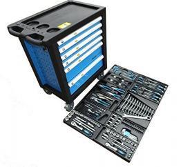 Bensontools Werkstattwagen bestückt mit Werkzeugen Blue Edition-1