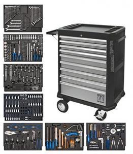 SW-Stahl Werkstattwagen 07075L bestückt mit sieben Schubladen
