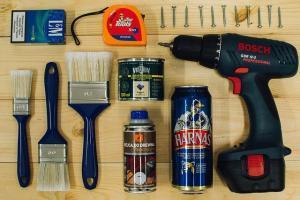 Werkzeugaufbewahrung an der Wand
