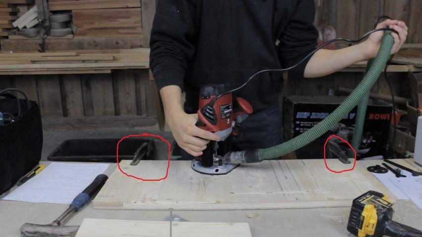 Einspannen des Werkstücks - Schraubzwingen für die Arbeit mit einer Oberfräse