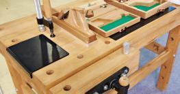 Eine Hobelbank ist optimal für die Holzbearbeitung