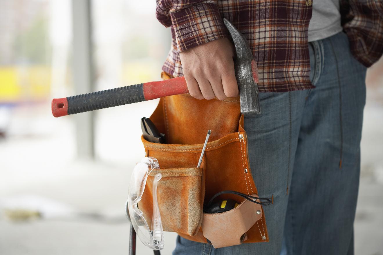 3 x kwb Werkzeug 4 Fächer Leder Werkzeuggürtel Gürteltasche Heimwerker
