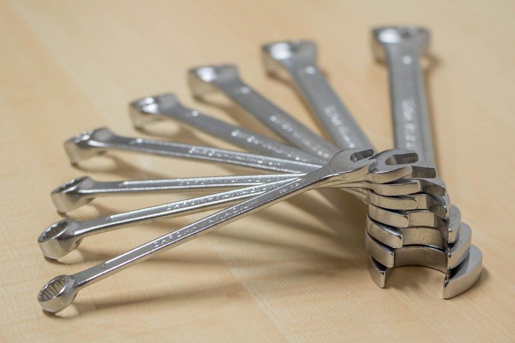 Ein Set von Ring-Maulschlüssel